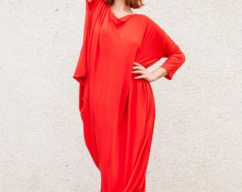 Maxi Dress / Plus Size Long Dress / Asymmetrical  Long Dress / Asymmetrical Kaftan / Plus Size Kaftan TDK02