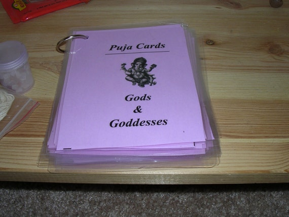 how to puja cards