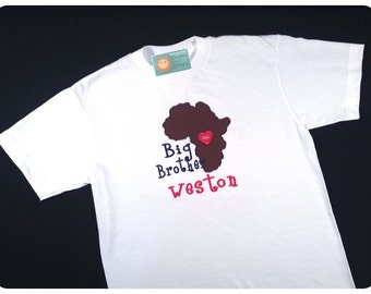 Big Brother Africa Adoption Applique Shirt with Embroidered Name