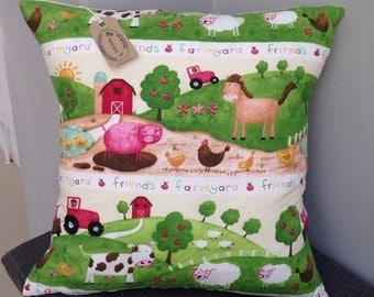 "Prestigious childrens farmyard animals 16"" cushion cover"
