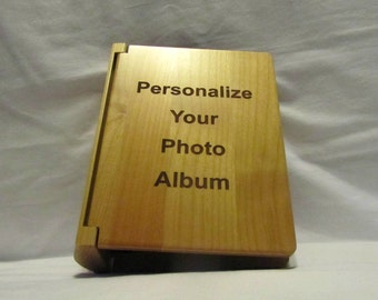 Personalized Wooden Photo Album With Your Custom Design - Small