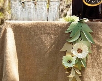 "Burlap Table Cloth - 68"" x 68"" - Rustic Burlap Square Table Cloths - Wedding table cloth - Wedding Decoration - Set of 2"