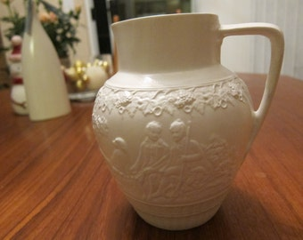 Minton Salt Glaze Pitcher - 18th Century Staffordshire, Hunter and Dogs motif