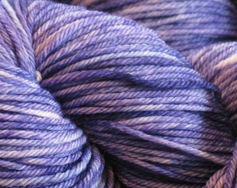 Purple Crocus, immersion dyed worsted yarn