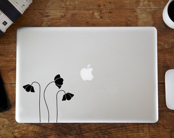 Poppies MacBook Decal