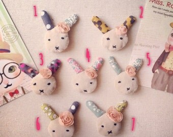 Cute Bunny Hair Clip or Brooch