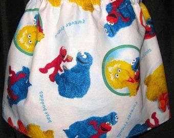 Handmade Custom Sesame Street Skirt - Elmo Cookie Monster Big Bird