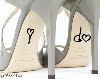 Wedding Shoe Decal - I Do Shoe Decal - Bridal Shoe Accessories