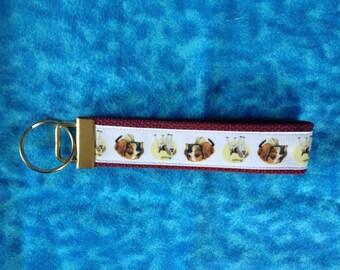 Beagle wristlet key fob holder keychain