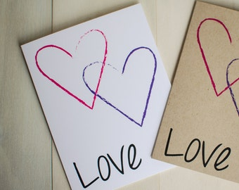 Love with Hearts, Card