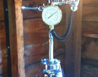 OSTER FLUSHER Steampunk, repurposed industrial light lamp Blender lamp