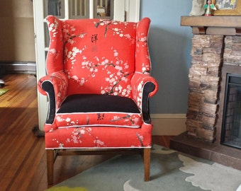 Vintage Reupholstered Clayton Marcus Wing Chair (SOLD)