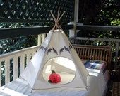 Cat Bed - Cat Teepee - Cat Tipi - Charcoal Kiteepee - litter box cover