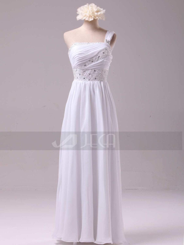 Grecian Style Wedding Dress Summer Wedding Dress by JecaBridal