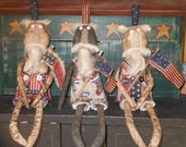 1 Primitive  Americana Uncle Sam doll  Flag Discounted Priority Shipping 4th of July Patriotic