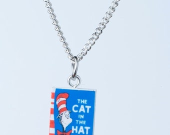 Cat in the Hat Book Novel Necklace Dr Suess