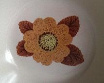 "Noritake  Cereal Bowls Retro  Brown Flowers ""Rustic 8333"" SET Of 6"