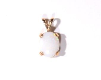 Oval Cut Opal Pendant (1805)