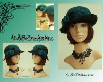 Crochet Hat green_black