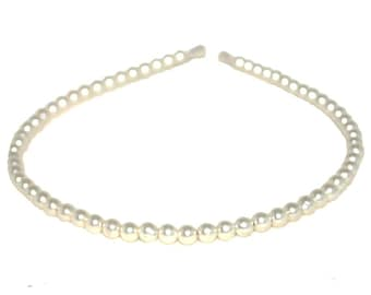 4mm Glass Pearl Headband, A Single Row Pearl Haedband