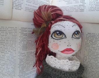 Poupette Alice OOAK cloth doll rag doll stuffed doll plush doll