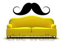 Ironic Roller Derby Funny Mustache 12 Designs Top Quality Removable Vinyl Decal