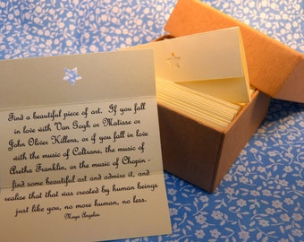 Creative Inspiration Quotes - Box of 50 Handmade Quotations.