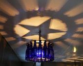 "Custom Order for 24"" Two Tier Texas Star Shadow Light Bottle Chandelier"