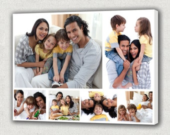Picture Collage, Wedding Collage, Photo Collage Canvas Collage, Family pictures on the wall Mother gift from kids