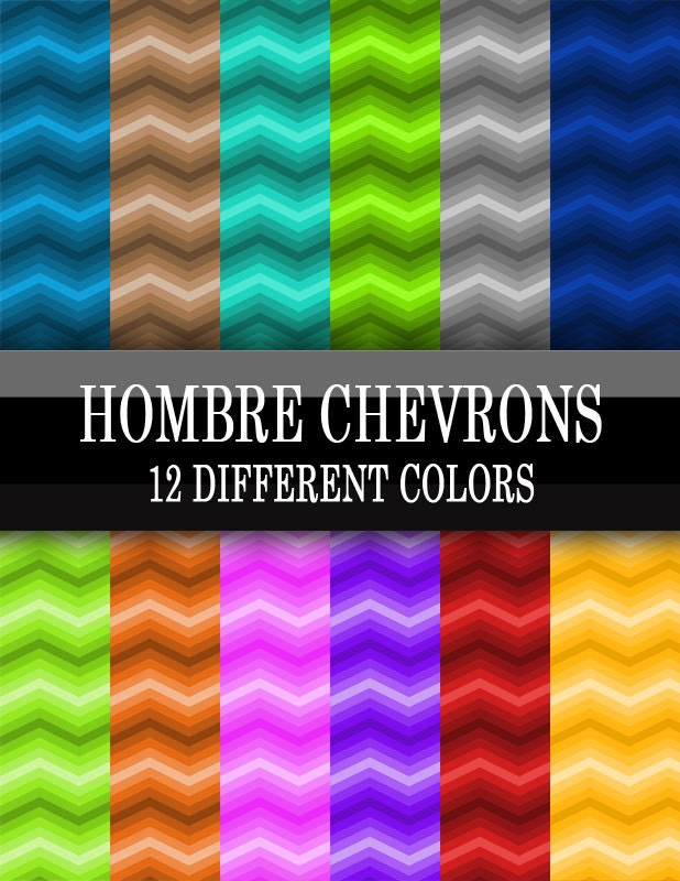 12 Different Eyeliner Tutorials To Switch Up Your Look: 12 Different Colors Hombre Chevron Gradient Geometric