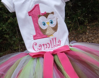 Personalized Look Whose One Owl Tee