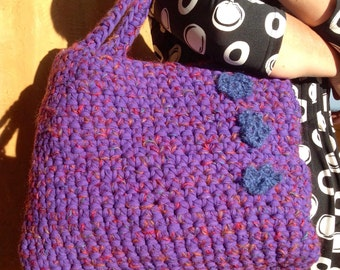 Purple bag with flowers