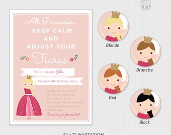 Private Custom Princess Invitation Listing