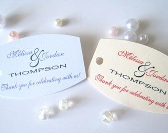 Small wedding favor tags,personalized gift tags,party favor tags, thank you tags - 30 count