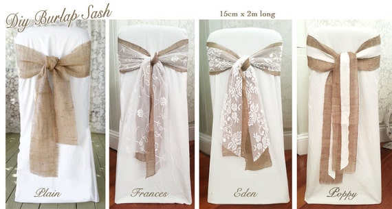 The Best 28 Images Of Burlap Chair Sashes Diy 6 Wide