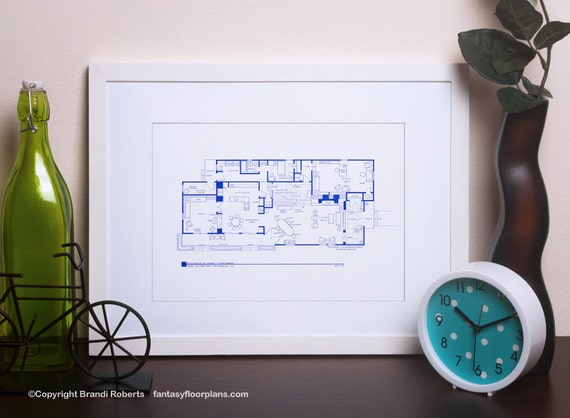 Brady Bunch House Floor Plan TV Show Floor Plan BluePrint