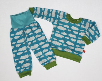 Pajama clouds turquoise Gr. 86-140 night dress 2-10 years