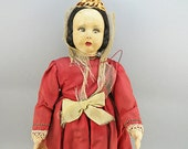 Vintage Fabric Doll 1930s Collectables Cloth Doll Antiques Collectibles Old textiles