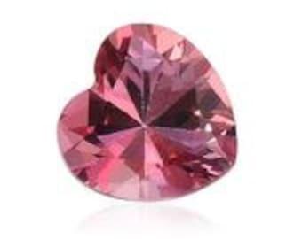 Pink Topaz Loose Gemstone Heart Cut 1A Quality 6mm TGW 0.85 cts.