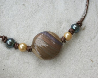 Murano Art Glass and Freshwater Pearl Necklace