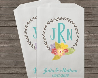 Wedding Favor Bags, Candy Buffet Bags, Candy Bar Bags, Favor Bags, Personalized Wedding Favor Bags, Treat Bags, Custom Favor Bags, Kraft 22