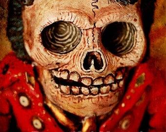 Beautiful Mortal Dia De Los Muertos Skeleton Elvis Presely Digital Canon PRINT 501 by Michael Brown