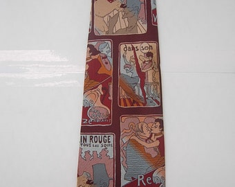 Amazing Early 1970s Parisan Theater Tie