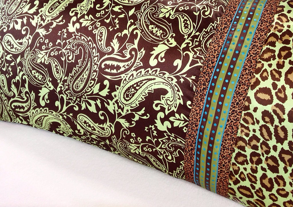 Paisley Pillow Case Paisley Satin Pillowcase Lime Green
