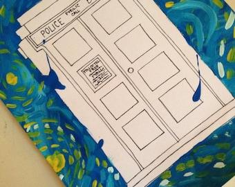 Doctor Who TARDIS painting