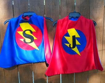 Custom Lightening Bolt Superhero Cape
