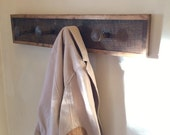 Railroad Spike Coat Rack With Reclaimed Wood