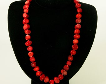 Red Is In My Blood Coral Necklace