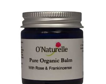 100% Pure and Natural Balm to Moisturise your skin. With Beeswax, Cocoa Butter, Organic Rosehip Oil and Rose and Frankincense