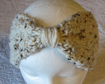 Crochet Bow Headband/Headwarmer Ready to Ship
